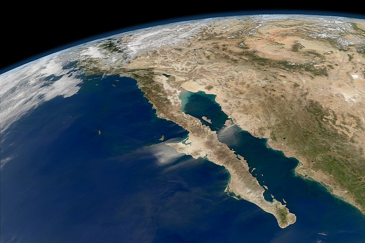 Baja California México Vista Satélite