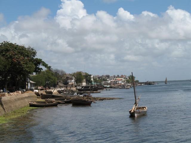 Pequeño puerto pesquero en Lamu Kenya