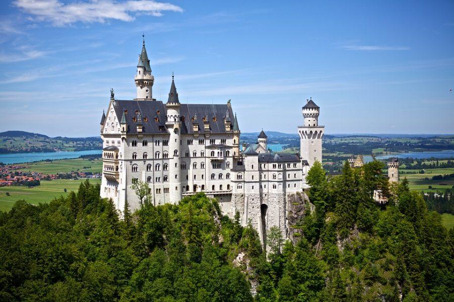 Neuschwanstein Vista panorámica Alemania