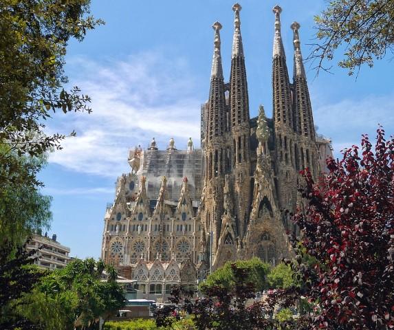 Sagrada Familia de Barcelona Vista fachada principal