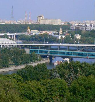 Vistas Moscú Vorobiovi Gori