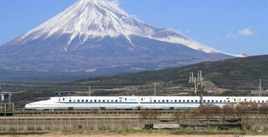 Shinkansen y el monte Fuji