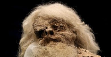 Hombre de Sal en museo de Irán