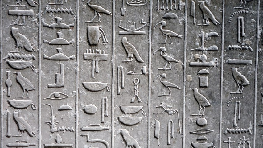 Jeroglíficos egipcios para turistas