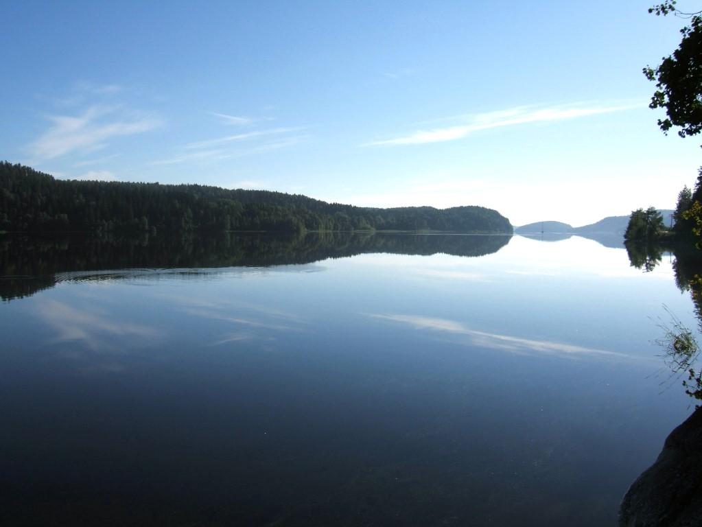 Lago Ladoga imagen puesta sol
