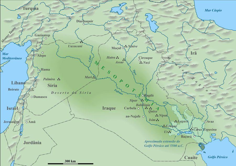 Dónde estaba Mesopotamia