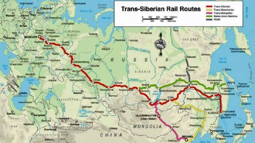 Mapa ruta del Transiberiano