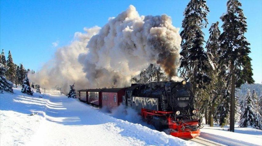 Transiberiano rodando por la nieve