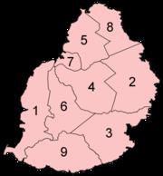 Regiones de Isla Mauricio
