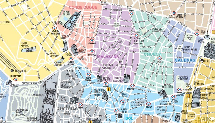 Situación del barrio de MALASAÑA en el centro de Madrid